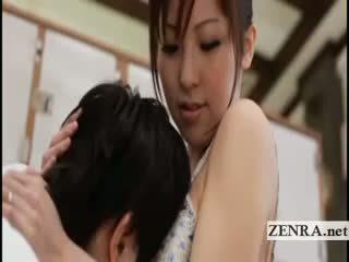 Povekas japanilainen sultress harumi asano has tiainen suckled
