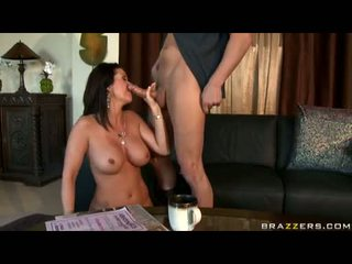 Hot Milf Raquel Devine Eagerly Takes A Rock Hard Unyielding Cock In And Out Her Mouth