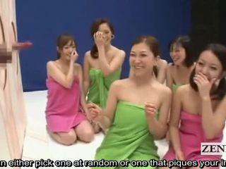 Subtitled cfnm šialené japonské penis guessing hra show