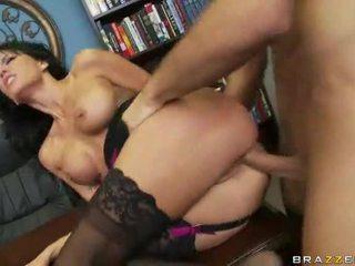 brunette, jong, hardcore sex