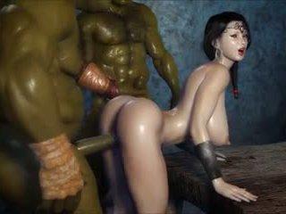2 geants baisent une jolie fille, gratuit porno 3c