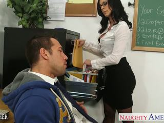 Brunet mugallym kendra lust gets facialized
