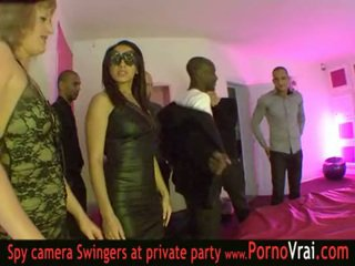 French Swinger party in a private club...