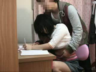 Spycam في سن المراهقة متلمس بواسطة schoolcoach