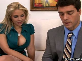 blondes, big tits, office