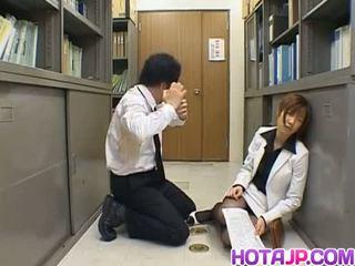 Misaki inaba kissed บน ไนล่อน