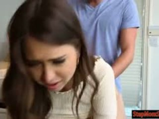 Janet Mason And Riley Reid Threesome Sex On Kitchen Top