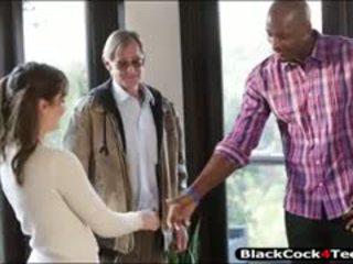 Kasey warner fodida por grande negra pila