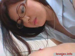 japanese, licking, glasses