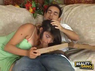 コック 飢えた adrianna faust feeds 彼女の 口 とともに a juice ハード meatpole
