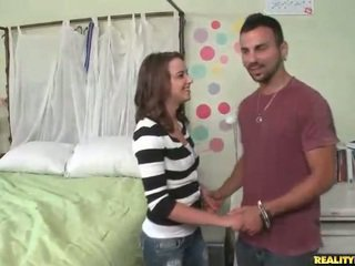 Young brunette Ariel Lee pick up a dude and fuckin