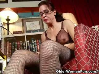cougar, solo girl, fishnets