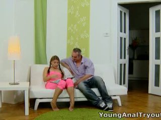 Anna sits quietly in her sexy pink outfit and looks sexy waiting for her man