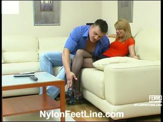 Alice And Nicholas Stockings Footsex Action