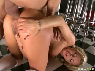 Blonde Butt Fucker Bree Olson Gobbles Down Some Hot Cum After An Anal Sexming