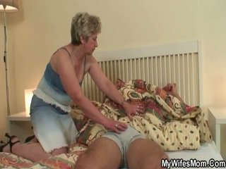 She Makes Love Her Son In Law As He Sl...