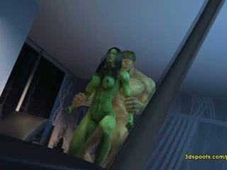 Ona hulk on - tam je nic jako šílený rozzlobený pohlaví!