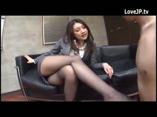 brunette, japonais, maigre