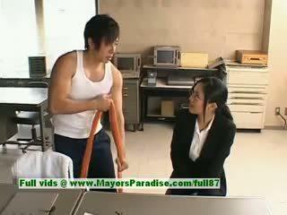Sora aoi innocent birichina asiatico segretaria enjoys getting