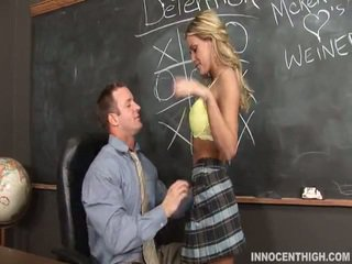 Tempting Blonde Mckenzee Miles Gagging...