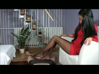 Goddess amy עבודה ברגל - bootjob - עבודת נעל