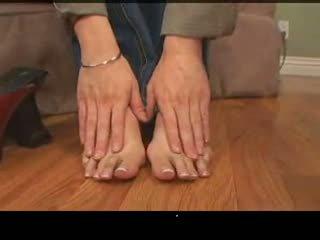 affrontare seduta, feticismo del piede, pov