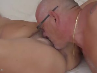 Mature Chubby Hairy Mom gets Cuni and Hard Cock: HD Porn 65