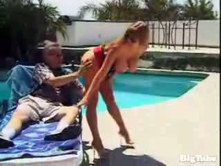Darla crane titty fucks and sucks cock outdoors