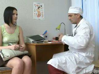 vaginë, mjek, spital
