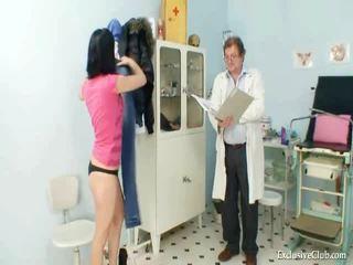 Pavlina gyno muff 燧 investigation 上 婦科椅 在 淫 clinic