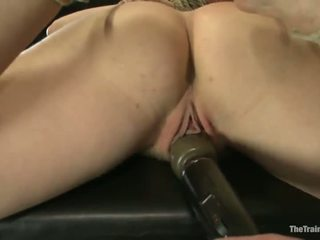 Clothespinned chastity lynn has whipped e toyed