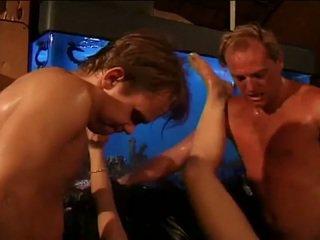 Koledža skaistule gets a karstās doube penetration