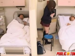 Naughty Japanese Teen Gets Fucked In A Hospital Bed