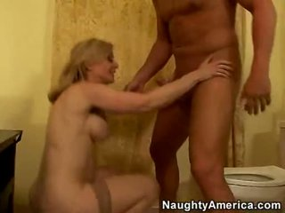 Hardcore Lover Nina Hartley Acquires So Drilled On Her Twat From Her Behind