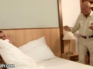 gruppen-sex, oma, schwarz haar