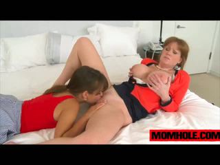 Riley Reed gets a mouthful of milf Darla Crane