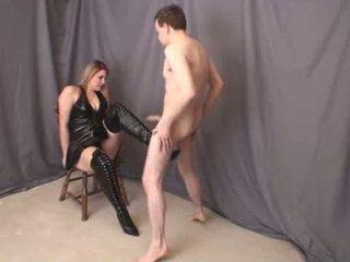 Jenna thigh 高い boot ballbusting フル