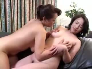 lesbian, matang, asian