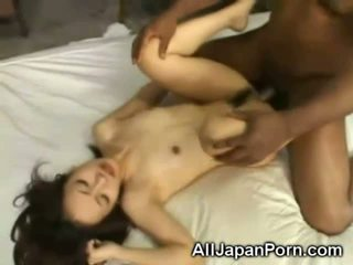 asian girls, interracial, black on white