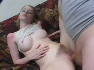 Casting Creampie Sex Of Blonde Petite Skinny Teen With Hairy Pussy