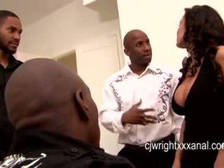 Lisa ann - lady betje eje gangbanged by blacks guy
