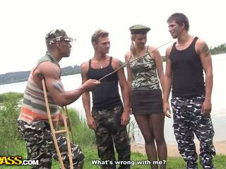 Hot hard core fuck in the army Video