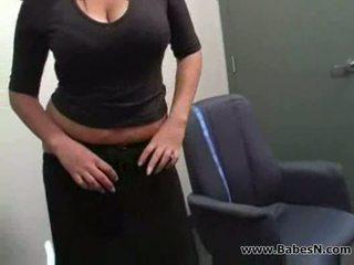 Secretaresse en baas lesbisch seks