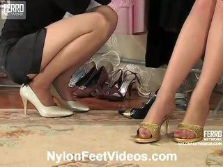 Agatha ja ninon ilkeä sukkahousut footsex