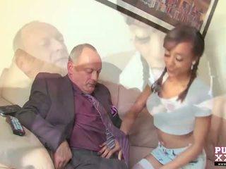 Pure xxx filmagens: negra jovem grávida alyssa divine screwing dela senior