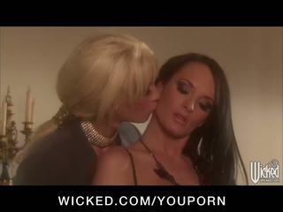 Hot big-tit pornstars alektra blue & tanya tate fuck their pussies