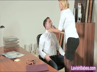 Kontoris beib anna polina banged reaalne hea