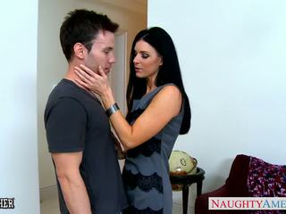 Stockinged india sommer gets facialized
