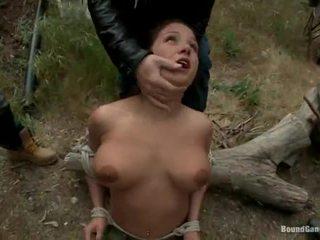 brunette, deepthroat, fuck busty slut