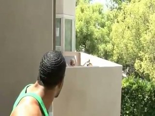 Saggy titted blonde fucking her neighbor